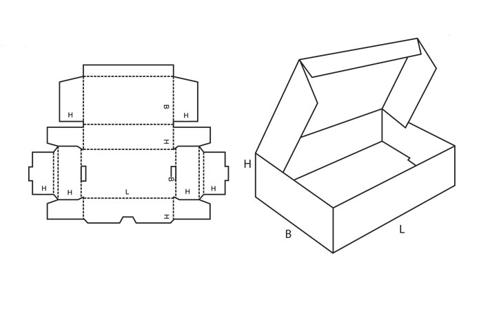 Коробочка с крышкой схема