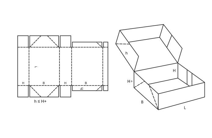 Коробочки с крышкой из бумаги своими руками